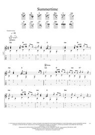 Summertime (Gershwin) for solo fingerstyle guitar
