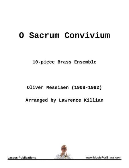 O Sacrum Convivium for Brass Ensemble