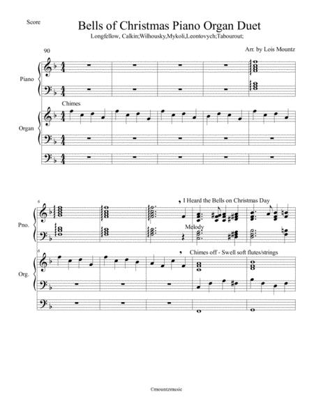 Bells of Christmas Medley for Piano and Organ