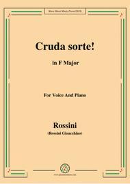 Rossini-Cruda sorte,from 'L'italiana in Algeri',in F Major,for Voice and Piano