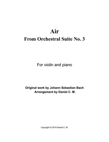 Air for violin and piano (simplified)