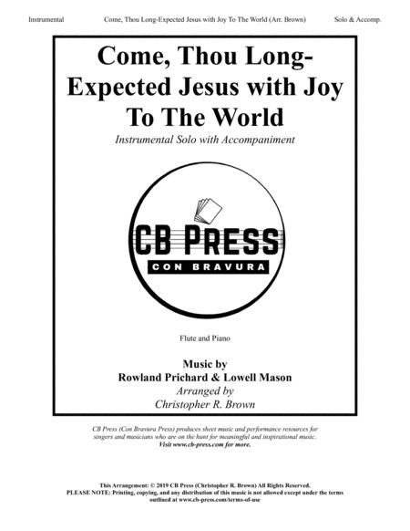 Come, Thou Long-Expected Jesus with Joy To The World - Flute Solo with Piano Accompaniment