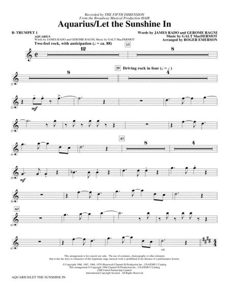 Aquarius / Let the Sunshine In (from the musical Hair) (arr. Roger Emerson) - Bb Trumpet 1