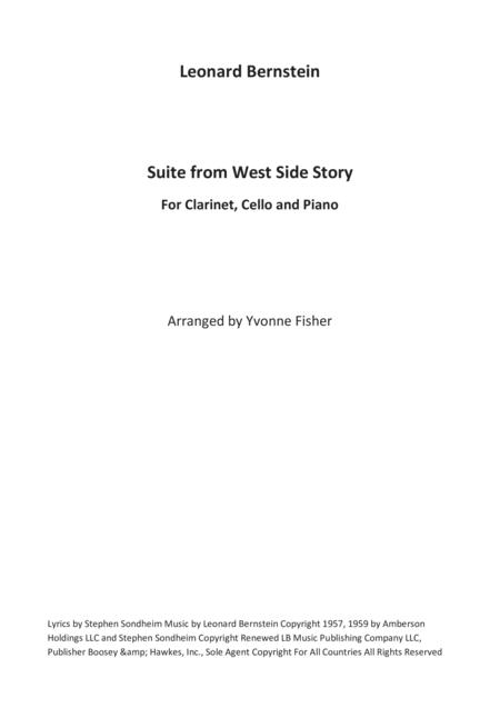 Suite from West Side Story for Clarinet, Cello and Piano