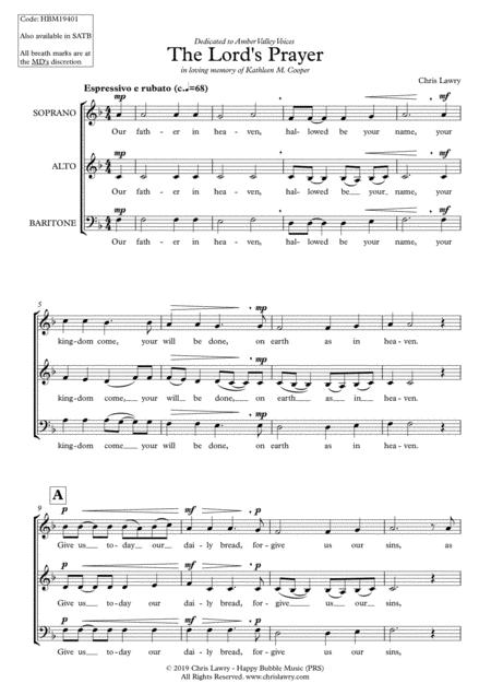 Chris Lawry - The Lord's Prayer (for SAB Choir a cappella)