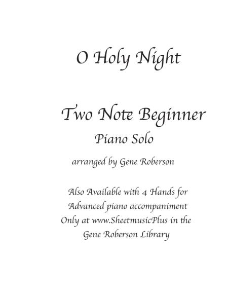 O Holy Night TWO - Note Beginner Arrangement PIANO