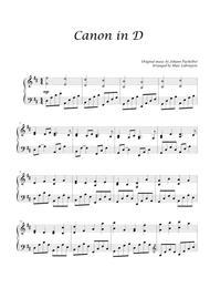 Canon in D. Early Intermediate (Piano)