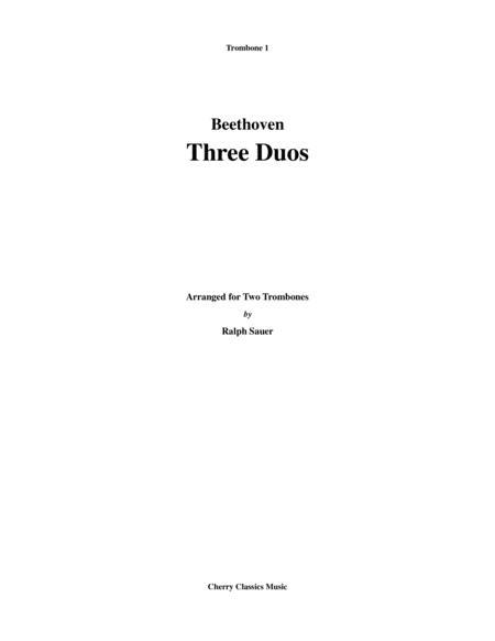 Three Duos for Two Trombones