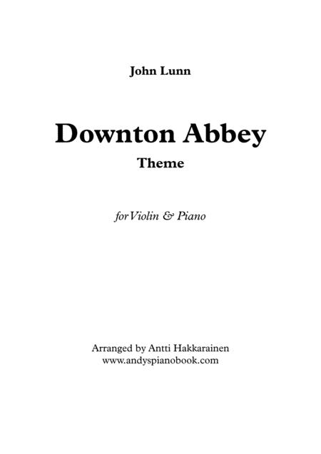 Downton Abbey Theme - Violin & Piano
