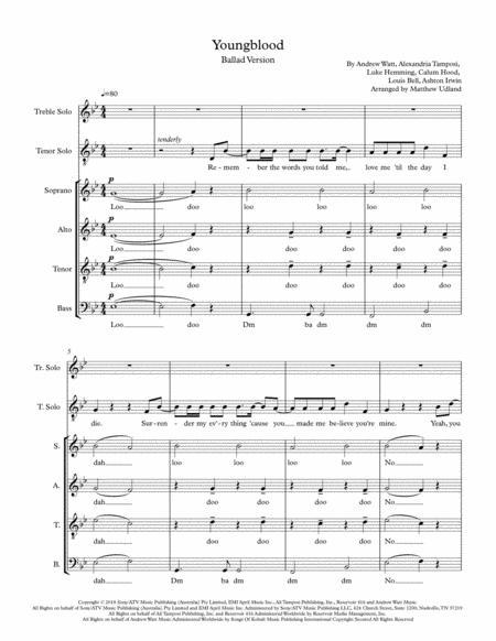 Youngblood, Ballad Version, A Cappella, Duet plus SATB