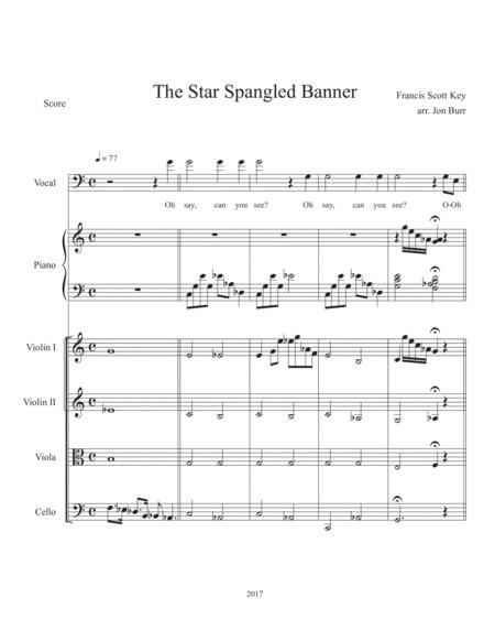 The Star Spangled Banner (String Quintet and Voice)
