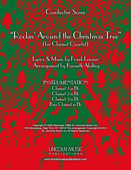 Rockin' Around the Christmas Tree (for Clarinet Quartet)