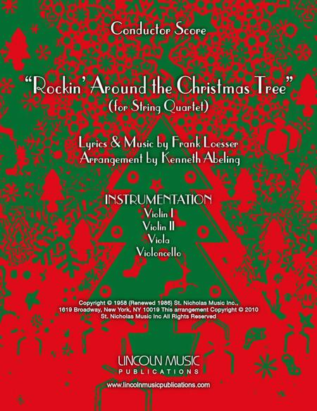 Rockin' Around the Christmas Tree (for String Quartet)