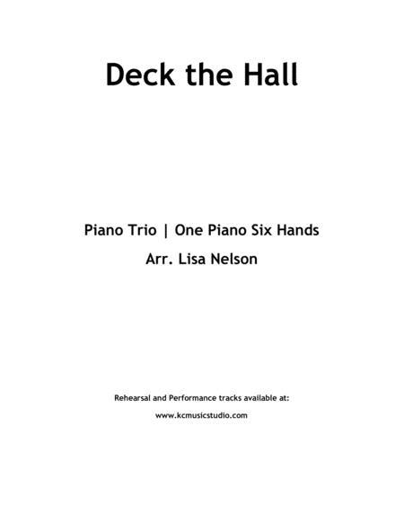 Deck The Hall \| Piano Trio (1 piano, 6 hands) \| Intermediate