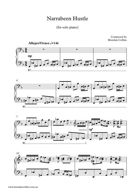 Narrabeen Hustle - Solo Piano