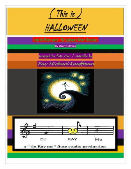 This Is Halloween ( The Nightmare Before Christmas ) for flute choir / ensemble