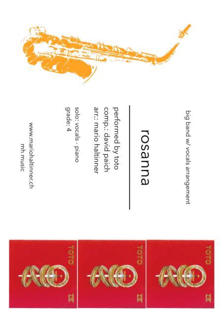 Rosanna - TOTO - Jazz Ensemble w/ vocals - score & parts