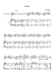 Largo (The New World), Antonin Dvorak, For Alto Saxophone & Piano