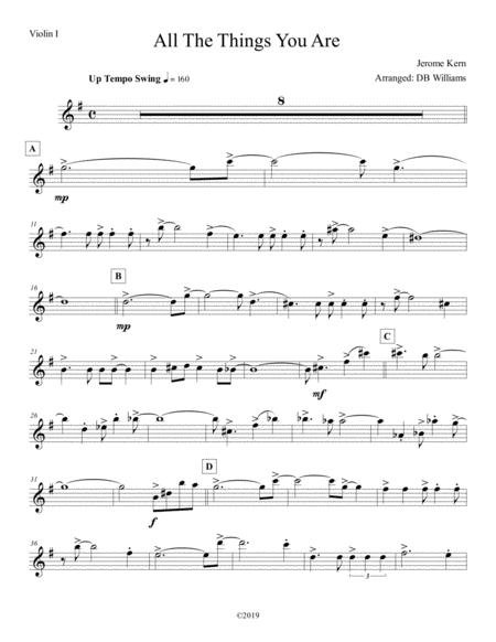 All The Things You Are (Violin 1)