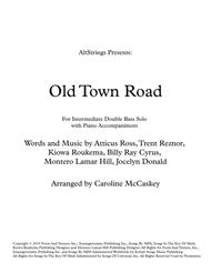 Old Town Road (remix) for Intermediate Double Bass Solo with Piano Accompaniment