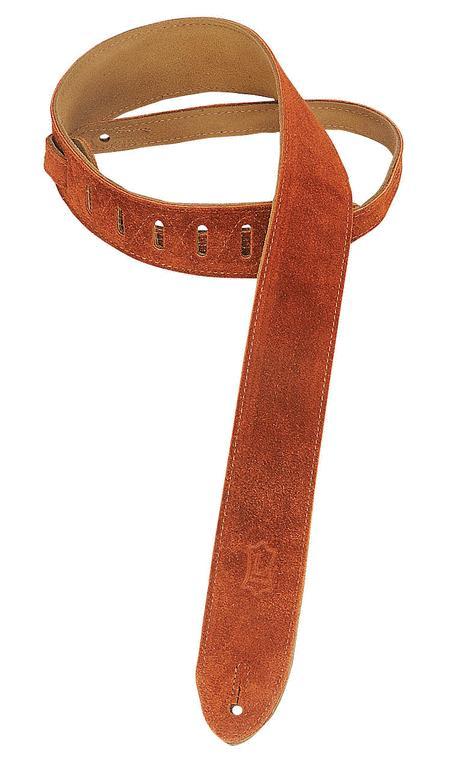 Suede Guitar Strap - Copper