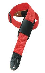 Polypropylene Guitar/Ukulele Strap - Red/Black Ribbon