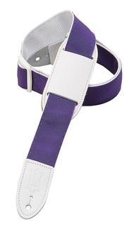 Polypropylene Guitar/Ukulele Strap - Purple/White Ribbon