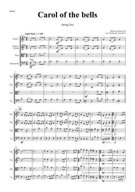 Carol of the Bells - Pentatonix style - String Trio
