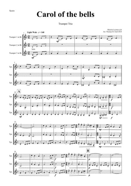 Carol of the Bells - Pentatonix style - Trumpet Trio
