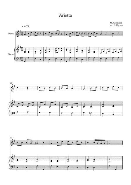 Arietta, Muzio Clementi, For Oboe & Piano