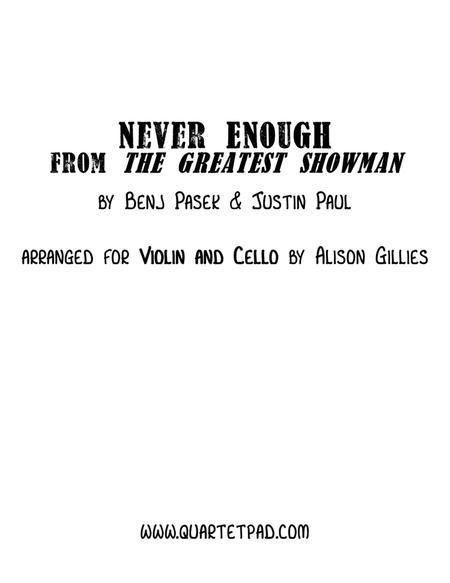 Never Enough - String Duo (vln/vc)