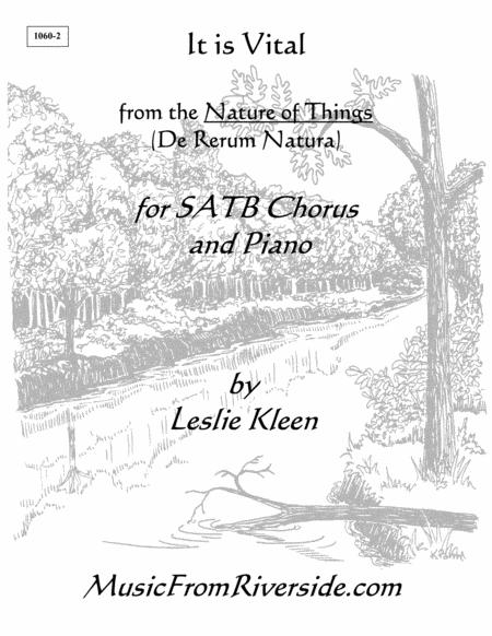 It is Vital for SATB and Piano