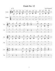 Etude No.12 For Guitar by Neal Fitzpatrick-Tablature Edition