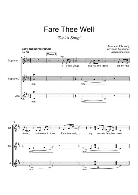 Fare Thee Well - SSA
