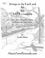 Strings in the Earth and Air for SATB a cappella