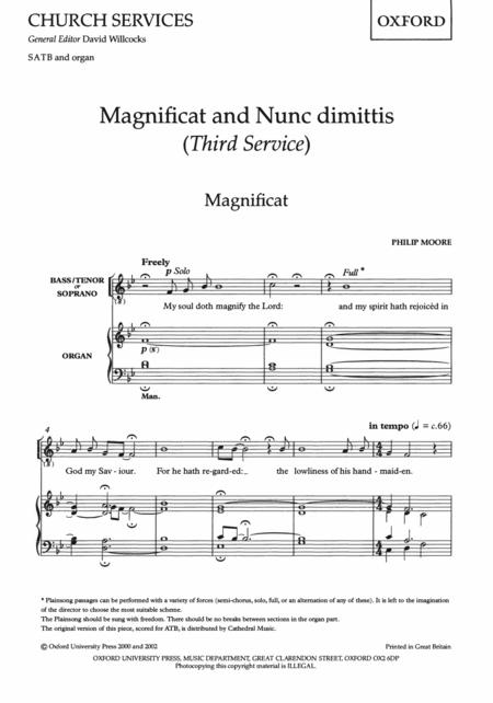Magnificat and Nunc Dimittis (Third Service)