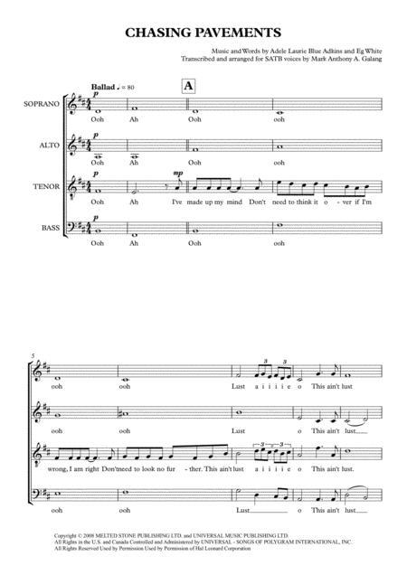 Chasing Pavements (Adele) - Acapella Arrangement