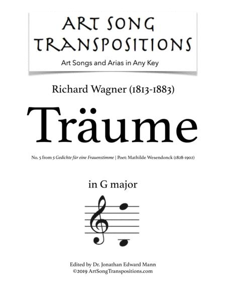 Träume (transposed to G major)