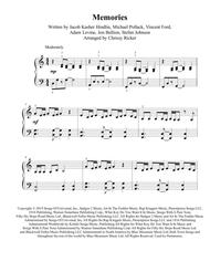 Memories Easy Piano By Maroon 5 Digital Sheet Music For Sheet Music Single Download Print H0 656157 Sc004092818 Sheet Music Plus
