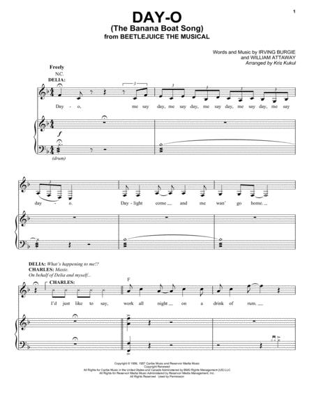 Day-O (The Banana Boat Song) (from Beetlejuice The Musical) (arr. Kris Kulul)