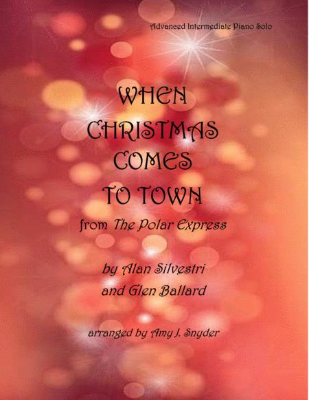 When Christmas Comes To Town, piano solo