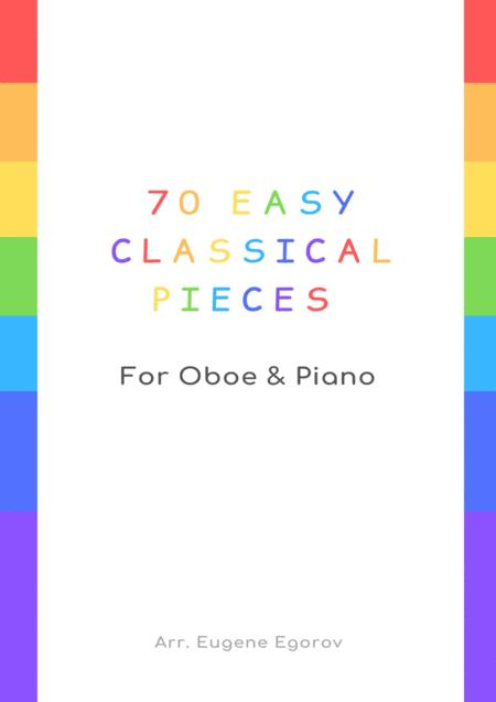 70 Easy Classical Pieces For Oboe & Piano