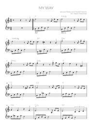 My Way easy piano
