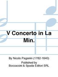 V Concerto in La Min.