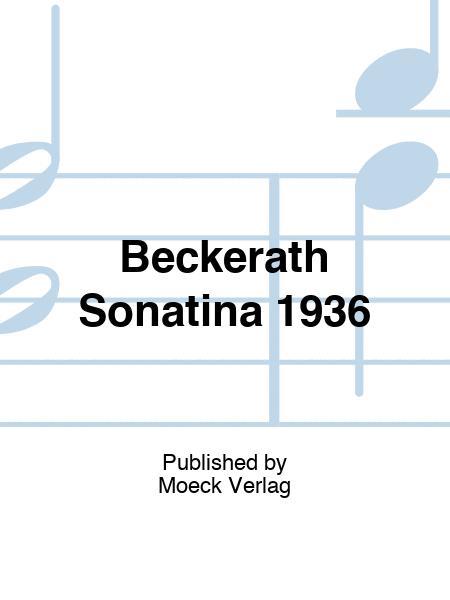 Beckerath Sonatina 1936