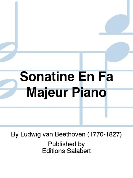 Sonatine En Fa Majeur Piano