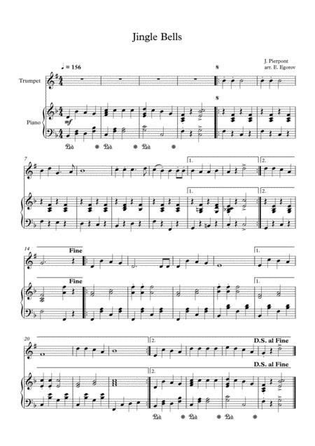Jingle Bells, James Pierpont, For Trumpet & Piano