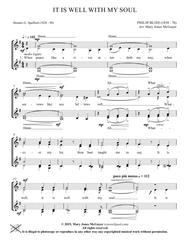 It Is Well With My Soul for S.S.A.A. a cappella