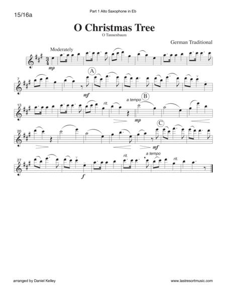O Christmas Tree For String Or Piano Trio (or Wind Trio Or ...