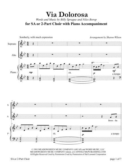 Via Dolorosa (for SA or 2-Part Choir with Piano Accompaniment)